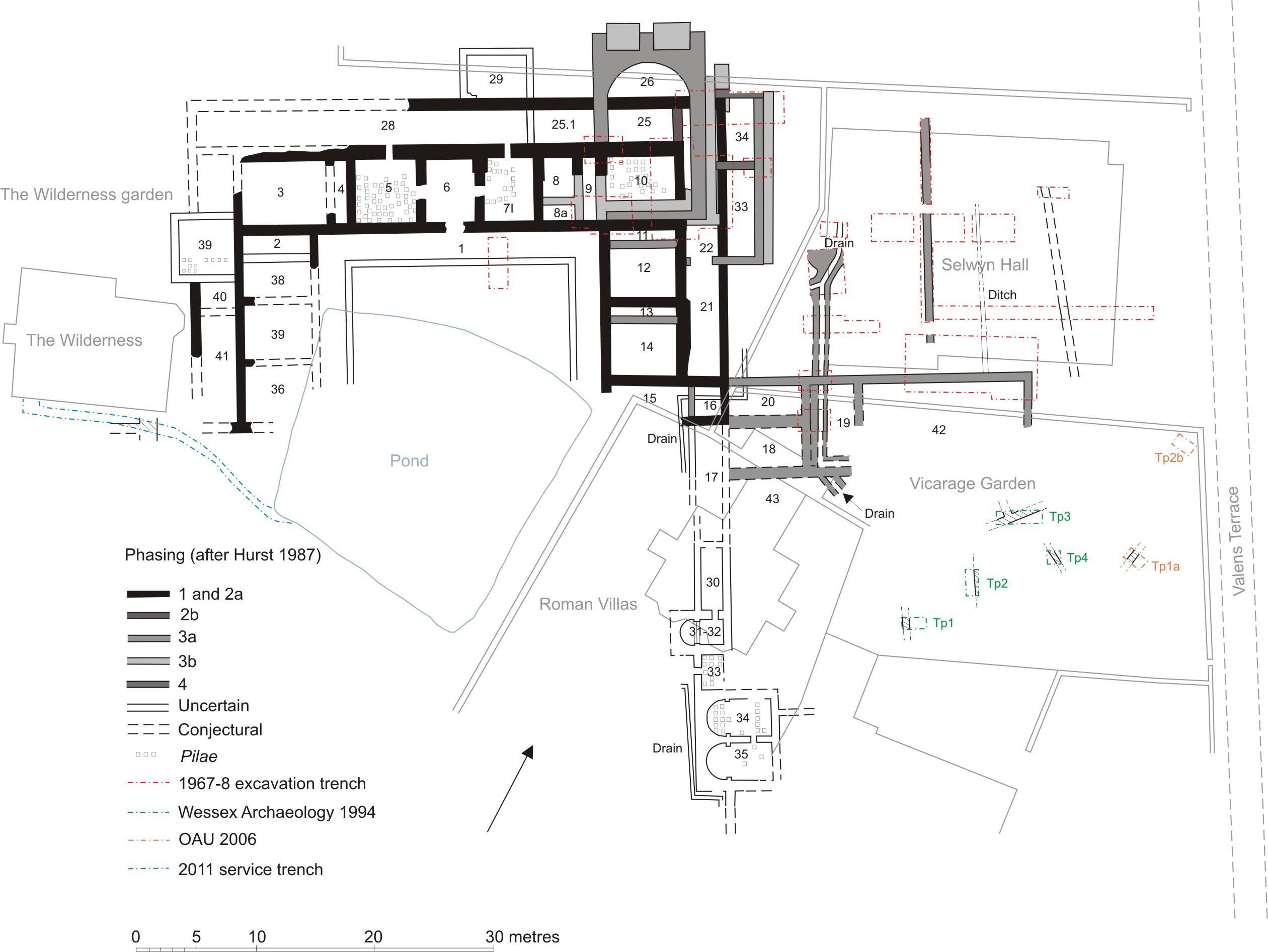 Roman Villa Map Labelled